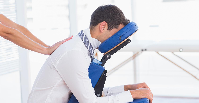 Stoelmassage op werk